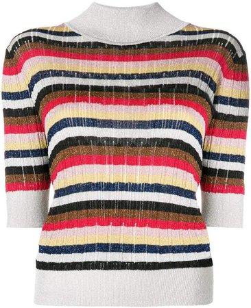 striped knit T-shirt