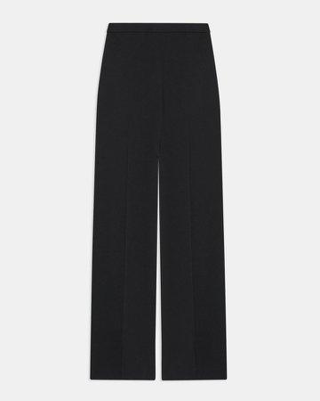 Wide Leg Pull-On Pant in Silk Georgette