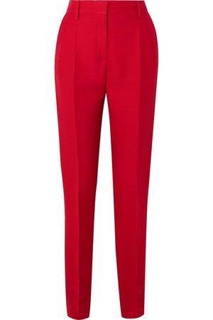 Valentino | Silk and wool-blend slim-leg pants | NET-A-PORTER.COM