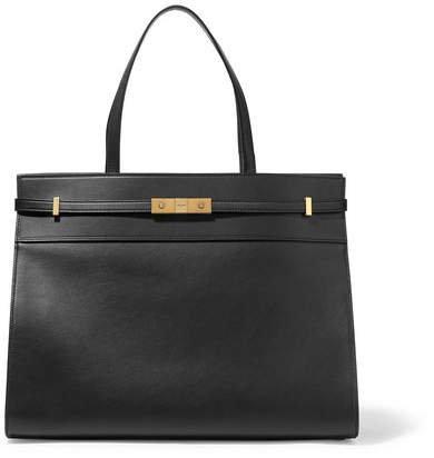 Manhattan Medium Leather Tote - Black