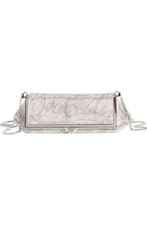 Christian Louboutin Daisy Crystal Embellished Clutch | Nordstrom