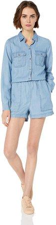 Amazon.com: Amazon Brand - Daily Ritual Women's Tencel Long-Sleeve Utility Romper: Clothing