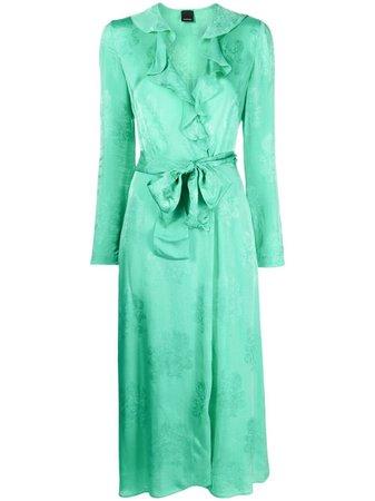 Pinko платье с запахом и цветочным принтом -50%- купить в интернет магазине в Москве   Цены, Фото.