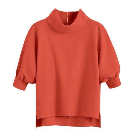 Linen Dolman Sleeve Top   Cuyana