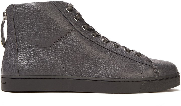 Boxe Textured-leather Sneakers