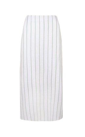 Day From Night Striped Linen Midi Skirt By Johanna Ortiz   Moda Operandi