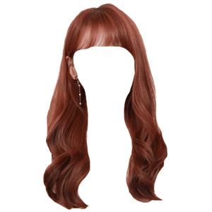 Brown Auburn Hair Bangs PNG