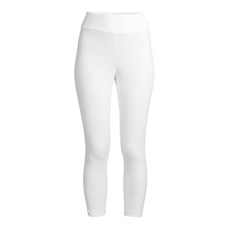 Time and Tru - Time and Tru Women's Capri Leggings 2 Pack - Walmart.com - Walmart.com white