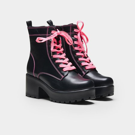 *clipped by @luci-her* KITANA Pink Laced Boots | Koi