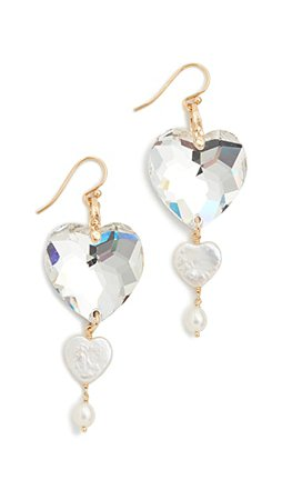 Chan Luu Crystal Heart Earrings | SHOPBOP
