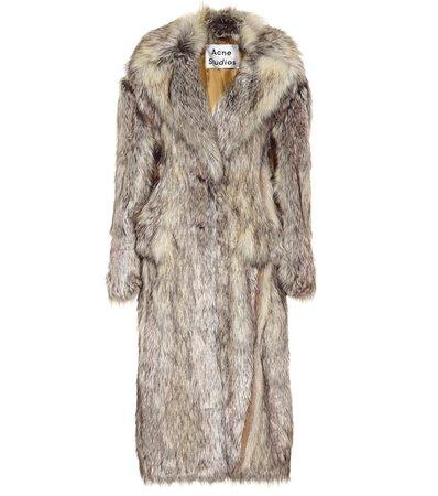 Faux Fur Coat   Acne Studios - Mytheresa