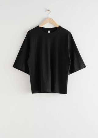 Boxy T-Shirt - Black - Tops & T-shirts - & Other Stories