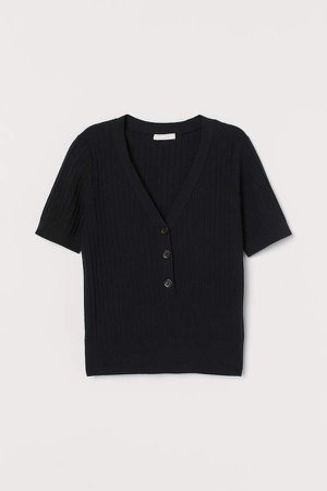 Ribbed Top - Black