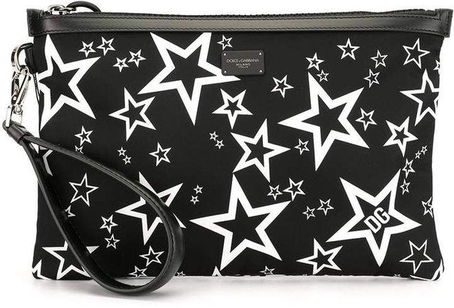 star print clutch