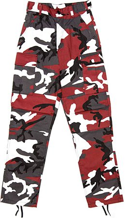 Amazon.com: Red Camouflage Military BDU Pants Cargo Fatigues Fashion Trouser Camo Bottoms: Clothing