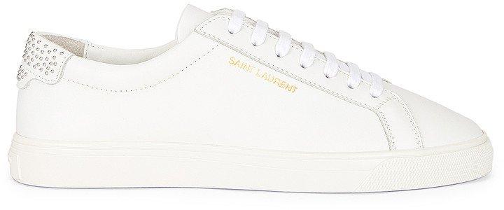 Andy Low Top Stud Sneakers in Blanc Optique | FWRD