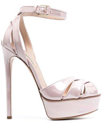 Shop pink Casadei Flora platform sandals with Express Delivery - Farfetch