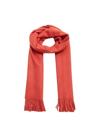 Violeta BY MANGO Fringed edge scarf