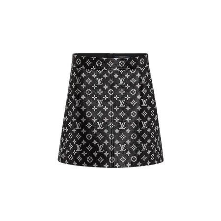 Jupe courte en cuir imprimée Monogram - Prêt-à-porter de luxe Femme | LOUIS VUITTON