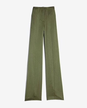 High Waisted Satin Seamed Wide Leg Pant | Express