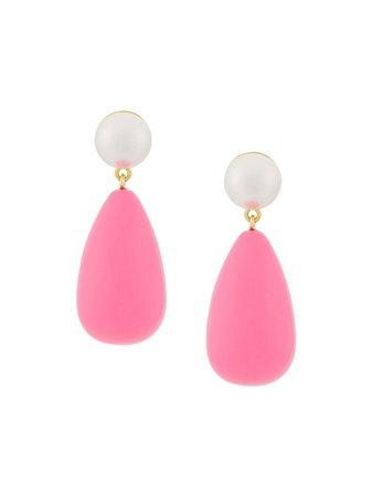 Shop pink Eshvi teardrop earrings with Express Delivery - Farfetch