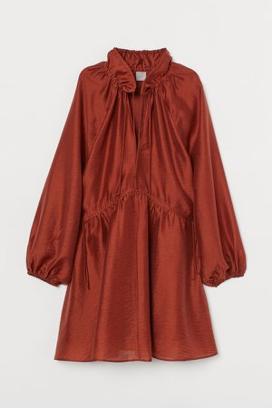 Lyocell-blend Kaftan Dress - Orange