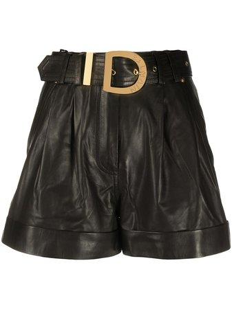 Balmain Belted high-waisted Shorts