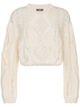 Amiri open-knit Jumper - Farfetch