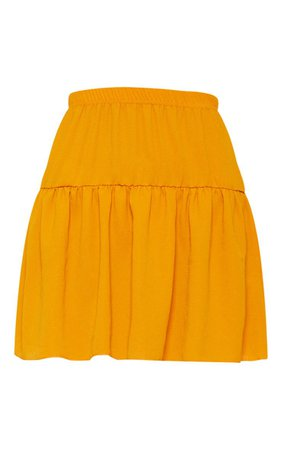 Black Chiffon Frill Hem Mini Skirt   Skirts   PrettyLittleThing USA