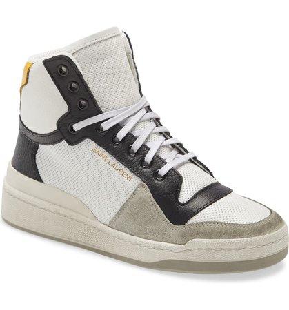 Saint Laurent SL24 High Top Sneaker (Women)   Nordstrom