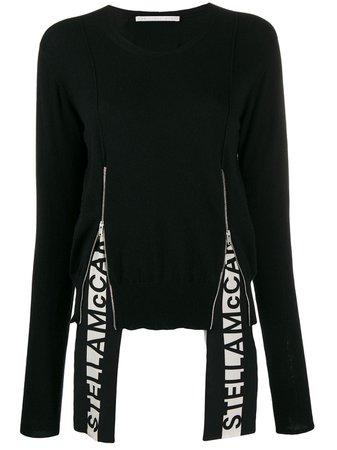 Stella Mccartney Logo Insert Long-Sleeve Jumper 600050S2152 Black   Farfetch