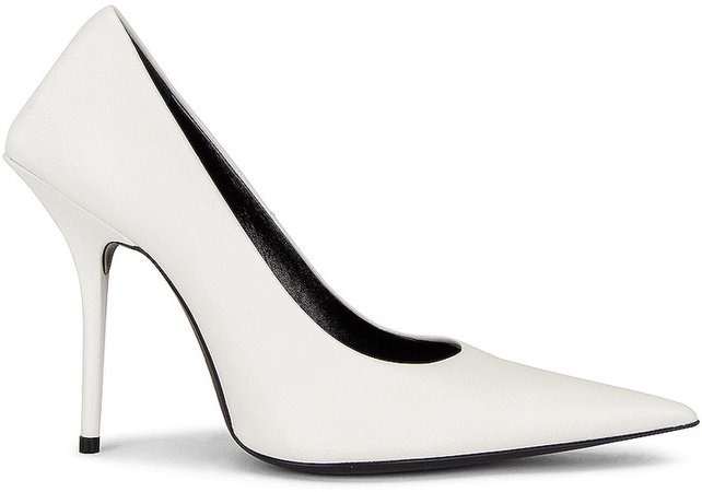 Square Knife Pumps in White | FWRD