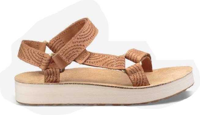 tan geometric teva sandal