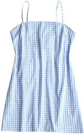 Amazon.com: ZAFUL Women's Mini Dress Adjustable Spaghetti Straps Sleeveless Knotted Plaid Back Checkered Dress Checked-C S: Clothing