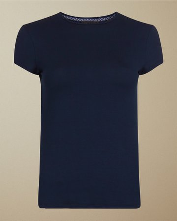 Fitted T-shirt - Navy | Tops and T-shirts | Ted Baker UK