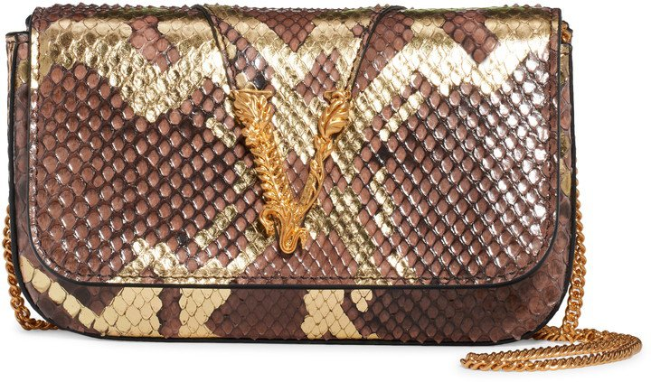 Genuine Python Shoulder Bag