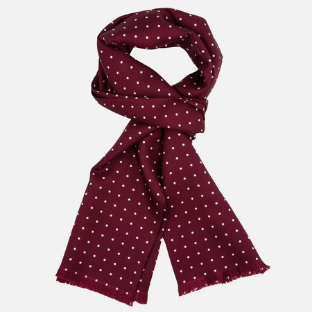 burgundy-silk-scarf-dots-he-spoke-style.jpg (870×870)