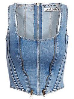 I.AM.GIA Coco denim corset