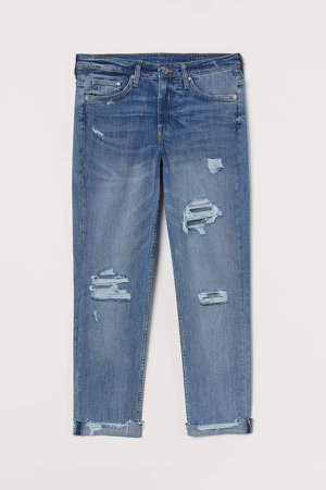 Girlfriend Regular Jeans - Blue
