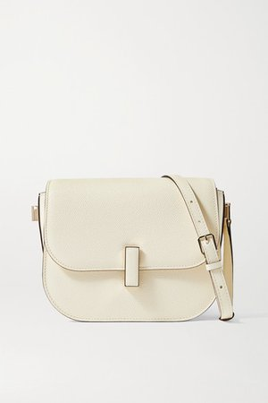 Iside Small Textured-leather Shoulder Bag - Cream