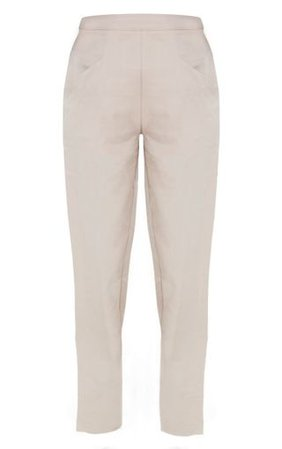 Pebble Tapered Trouser | Trousers | PrettyLittleThing