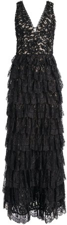 Devora Tiered Lace Gown