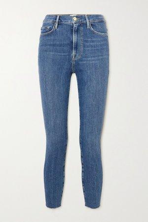 Mid denim Ali high-rise skinny jeans   FRAME   NET-A-PORTER