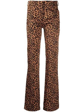 Laneus leopard-print trousers - FARFETCH