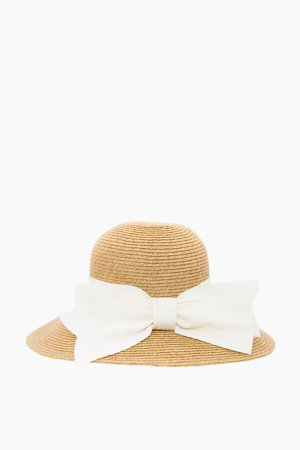 Toucan Hats | Cream Packable Wide Bow Sunhat | Toucan Hats