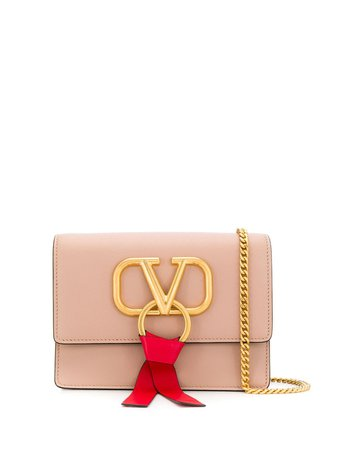 Pink Valentino Garavani VRING Shoulder Bag | Farfetch.com