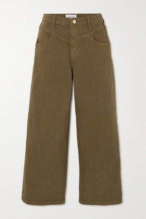 Ali High-rise Wide-leg Jeans - Green