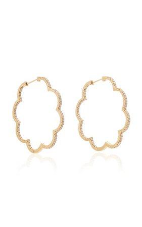 Amelie 18k Gold And Diamond Hoop Earrings By Ashley Mccormick   Moda Operandi