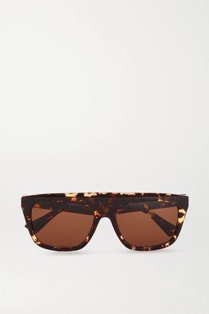 Tortoiseshell D-frame tortoiseshell acetate sunglasses | Bottega Veneta | NET-A-PORTER