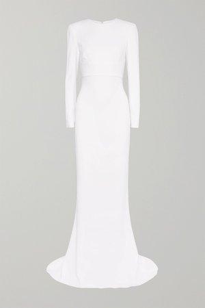 White Open-back stretch-crepe gown | Stella McCartney | NET-A-PORTER